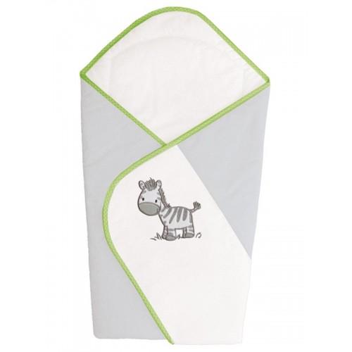 Одеяло-конверт (W-810-002-260 Zebra Grey вышивка) Ceba Baby