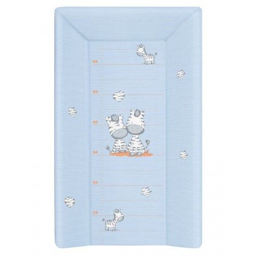 Пеленальный матрац 70 см мягкий с изголовьем(W-103-002-160 Zebra Blue) Ceba Baby