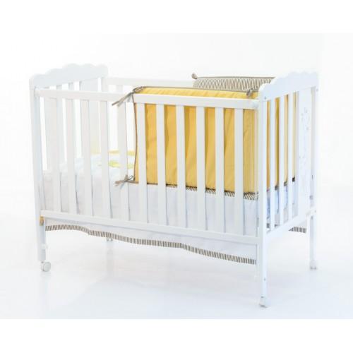 Кровать 120x60 Baby Giraffe Матрас полиуретановый СН-620 в подарок!(White) Micuna (Микуна)