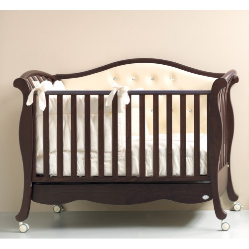 Кровать 125x65 Divina Luxe Cristallo(Орех) Бамболина Bambolina