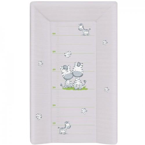 Матрац пеленальный Ceba Baby 70 см с изголовьем на кровать 120*60 см Zebra grey W-201-002-260