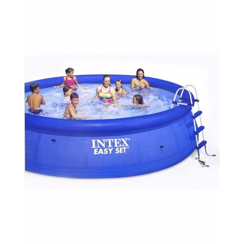 Надувной бассейн изи сет 457х107см.(видео,насос-фильтр,лест.,настил,тент,наб. д/чистки) 220в. Intex (Интекс)
