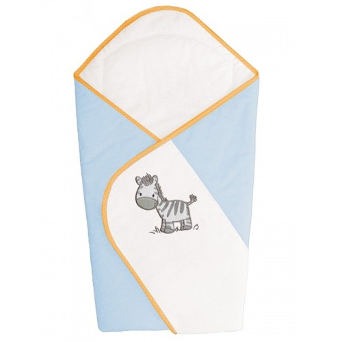 Одеяло-конверт (W-810-002-160 Zebra Blue вышивка) Ceba Baby