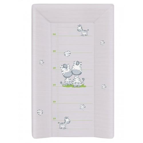 Пеленальный матрац 70 см мягкий с изголовьем(W-103-002-260 Zebra Grey) Ceba Baby