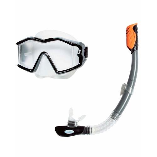 Плавательный набор маска,трубка исследователь Про 14+лет Intex (Интекс)