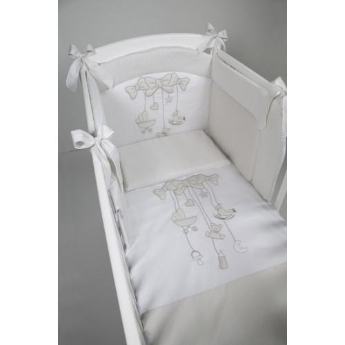 Постельное белье Carillon для кровати 3 предмета white/grey(White/Grey) BV&BV