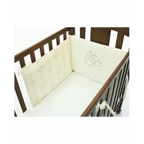 Бортик Luna Elegant (Фаннабэби Луна Элегант) короткий для кровати 120*60 см Funnababy