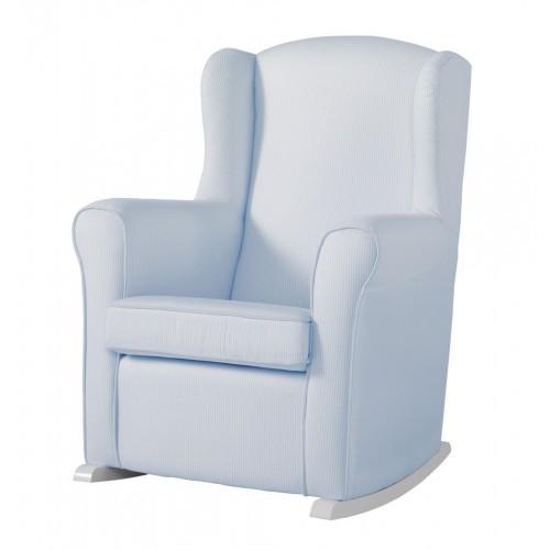 Кресло-качалка Wing White(Цвет обивки: Blue Striped) Micuna (Микуна)