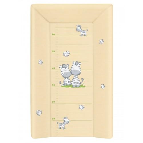 Матрац пеленальный Ceba Baby 70 см с изголовьем на кровать 120*60 см Zebra yellow W-201-002-141