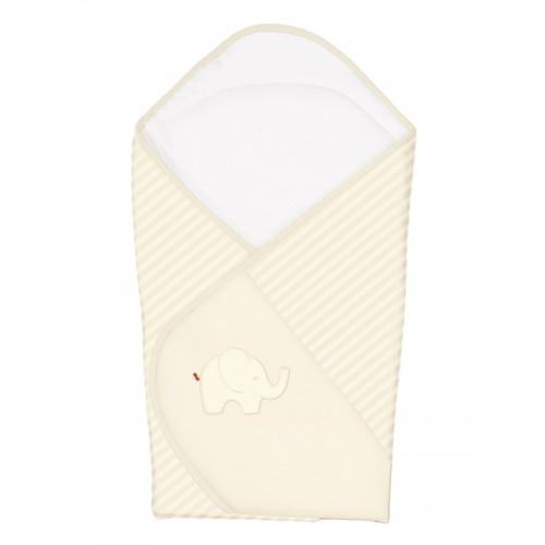 Одеяло-конверт (W-810-057-171 Elephant Cream вышивка) Ceba Baby