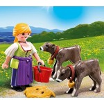 Дополнение: Крестьянка с телятами Playmobil (Плеймобил)