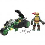 Фигурка Черепашки-ниндзя 6см Раф с мотоциклом-стелс серия Half Shell Hero