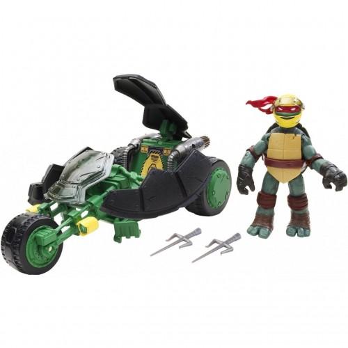 Фигурка Черепашки-ниндзя 6см Раф с мотоциклом-стелс серия Half Shell Hero Turtles 96754