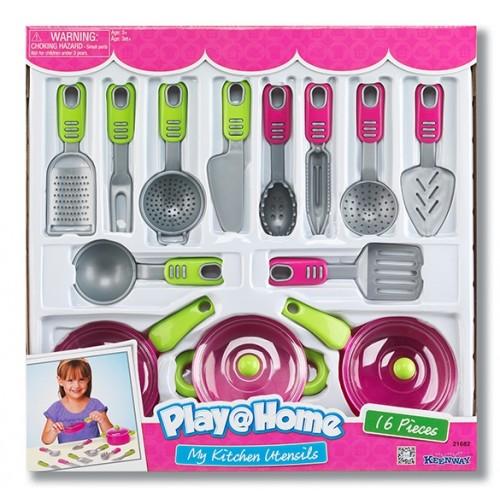 """Игровой набор """"Моя кухня"""", 16 предметов (Аналог 21664) Keenway"""