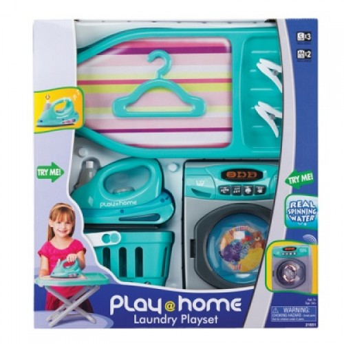 Игровой набор Прачечная (стиральная машинка, гладильная доска, утюг, корзина для белья) Keenway 21651