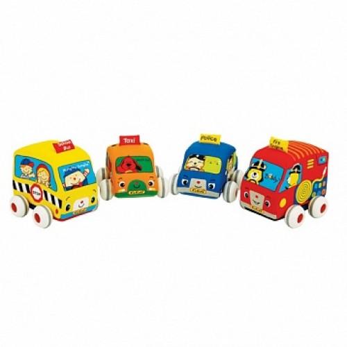 Машинки мягкие с инерционным механизмом, набор 4 шт. KS Kids KA459
