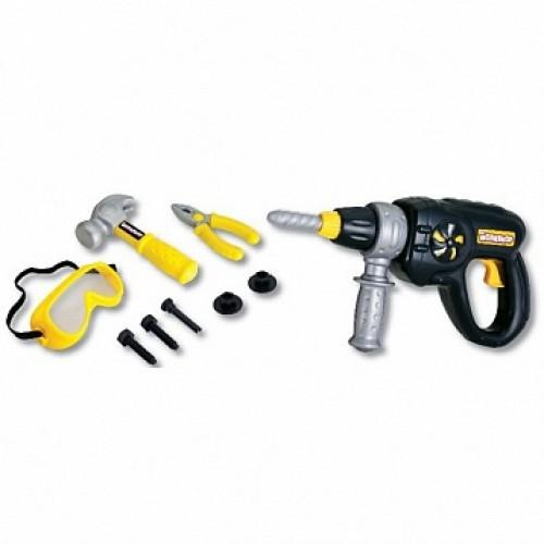 Набор инструментов (электрошуруповерт, плоскогубцы, винты, защитная маска и молоток) Keenway 12762