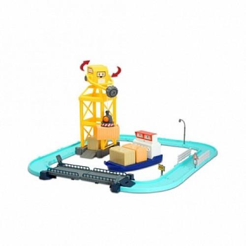 Порт (металлическая фигурка Терри 12см в комплекте) с разводным мостом Robocar Poli Silverlit 83083