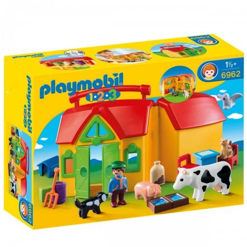 1.2.3.: Ферма возьми с собой Playmobil