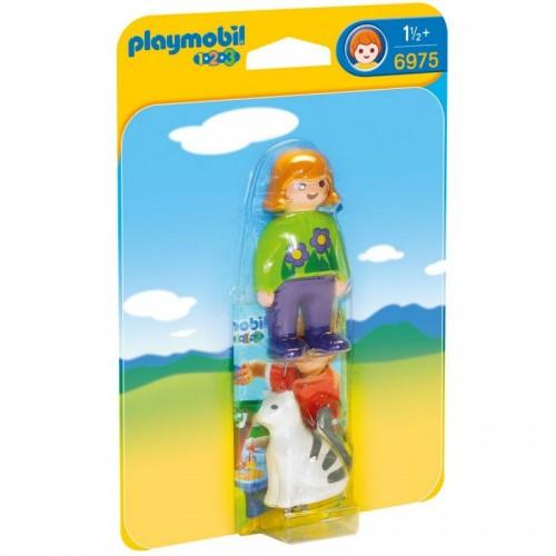 1.2.3.: Женщина с кошкой Playmobil (Плеймобил)