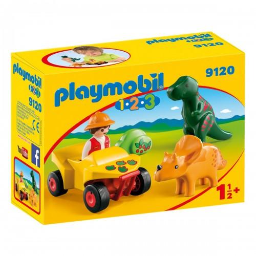 1.2.3.:Исследователь с динозаврами Playmobil
