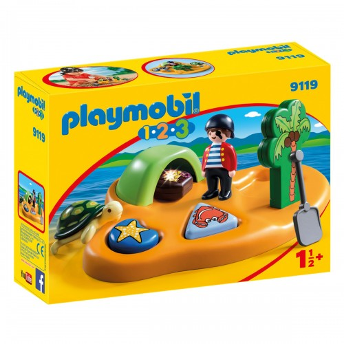 1.2.3.:Пиратский остров Playmobil