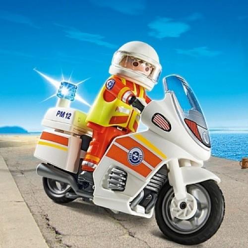 Береговая охрана: Мотоцикл первой помощи с мигалкой Playmobil 5544pm