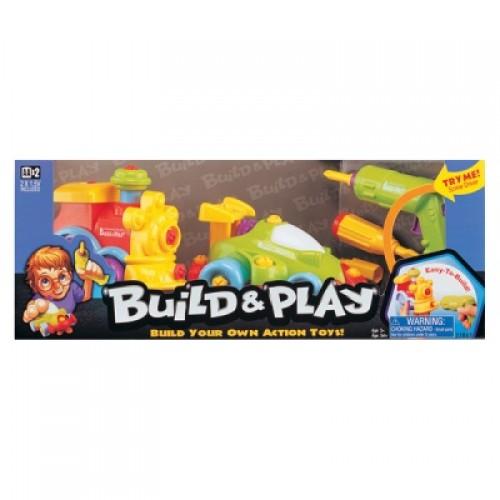 "Набор ""BUILD""N PLAY"" -машина+паровозик в коробке Keenway 11861"