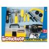 Набор инструментов (электрошуруповерт, ящик для инструментов, плоскогубцы, винты, отвертка, ножевка, Keenway 12761