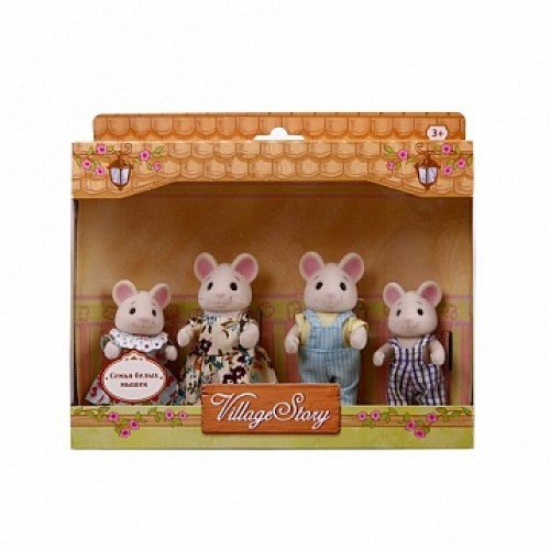 Семья белых мышек Village Story