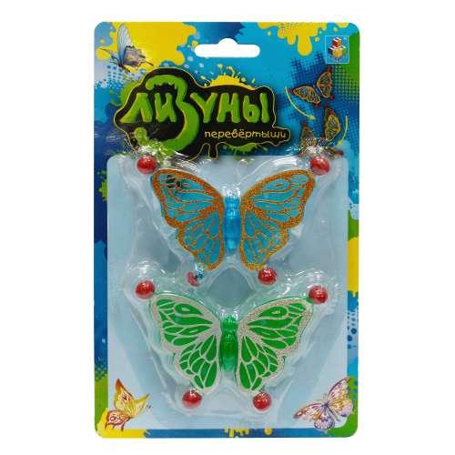 """1toy """"Мелкие пакости"""" Лизуны бабочка в асс. ползает по стенам, 8,5 см блистер"""