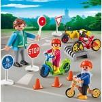Детский сад: Дети с воспитателем по ПДД Playmobil (Плеймобил)