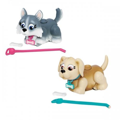 Фигурки собачек в комплекте с косточками и поводком Pet Club Parade