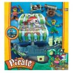"""Игровой набор """"Приключения пиратов. Битва за остров"""" (корабль с зелёным парусом, фигурки пиратов) Keenway"""