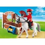 Конный клуб: Андалусская лошадка и загон Playmobil (Плеймобил)