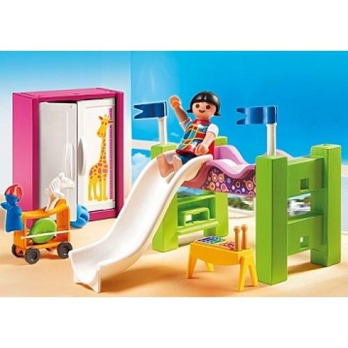 Особняки: Детская комната с двухъярусной кроватью-горкой Playmobil 5579pm