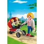 Детский сад: Мама с близнецами в коляске Playmobil (Плеймобил)
