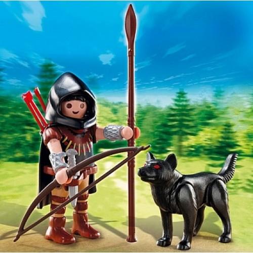 Дополнение: Охотник с волком Playmobil 5408pm