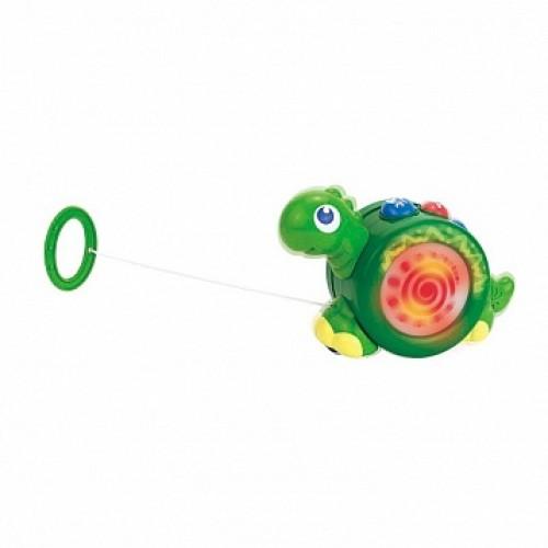Игрушка-каталка на шнурке (динозаврик) Hap-p-Kid 4205T