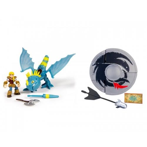 Набор дракон и всадник + подарок Щит - арбалет Spin Master