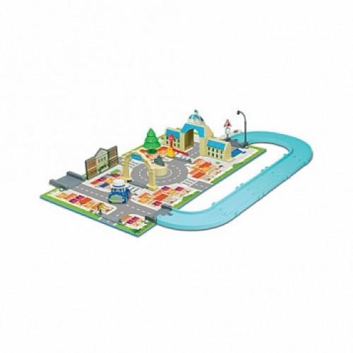 Набор «Город» мэрия ( металлическая машинка Масти в комплекте) Robocar Poli Silverlit 83279