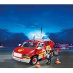 Пожарная служба: Пожарная машина командира со светом и звуком Playmobil (Плеймобил)