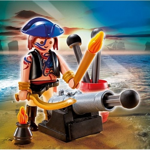 Дополнение: Пират с пушкой Playmobil 5413pm