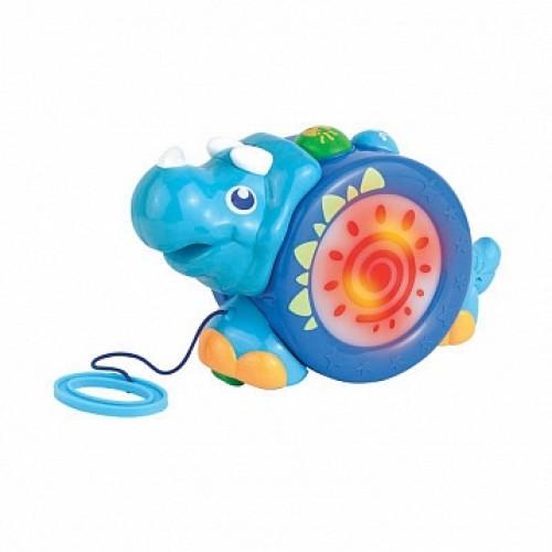 Игрушка-каталка на шнурке (носорог) Hap-p-Kid 4206T