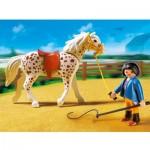 Конный клуб: Кнабструбская лошадь со стойлом Playmobil (Плеймобил)