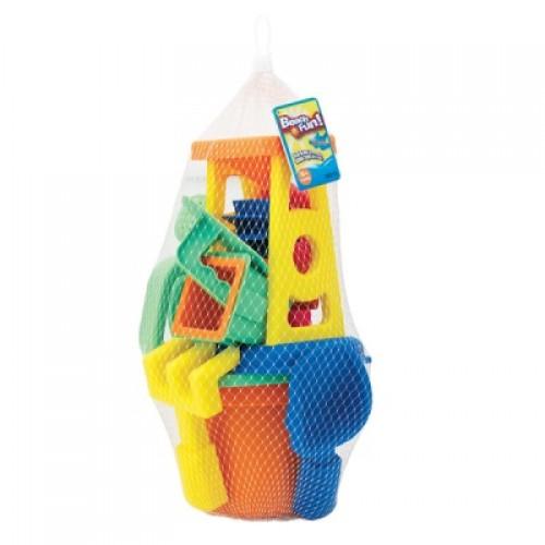 Набор : 15 игрушек для песочницы в сетке Keenway 30313