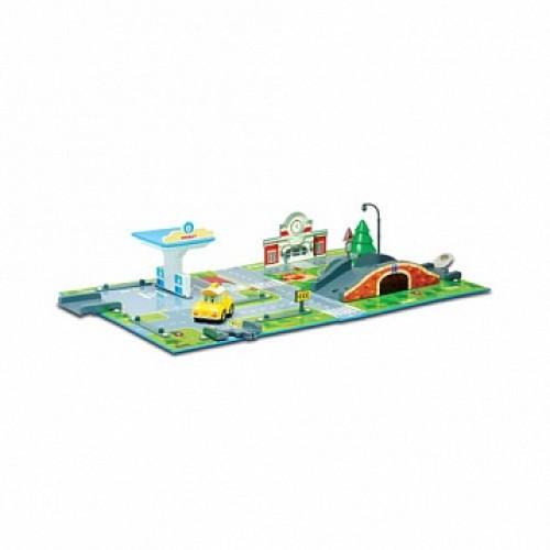 Набор «Город» почта с мостом (1 металлическая машинка в комплекте) Robocar Poli Silverlit 83248