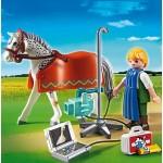 Ветеринарная клиника: Лошадка с рентгеновским аппаратом Playmobil (Плеймобил)