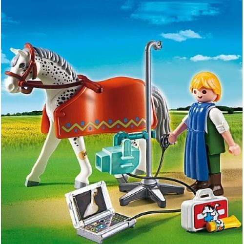 Ветеринарная клиника: Лошадка с рентгеновским аппаратом Playmobil 5533pm