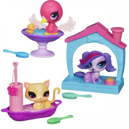 Зверюшка с волшебным мехом и аксессуарами Littlest Pet Shop Hasbro